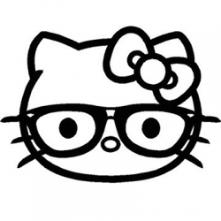 Hello Kitty Glasses Eyes Vinyl Sticker for your wall, car or truck.