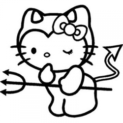 Hello Kitty Naughty Devil Vinyl Sticker for your wall, car or truck.