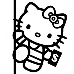 Hello Kitty on the Pole Dancing Vinyl Sticker for your wall, car or truck