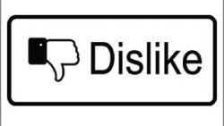 Facebook Dislike Vinyl Sticker for your wall, car or truck.