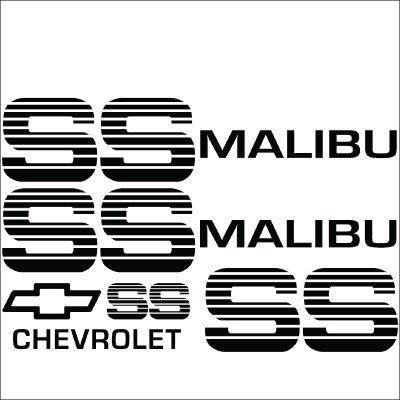 Malibu SS Choo Choo Custom Vinyl Decal Sticker Kit.