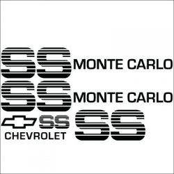 Monte Carlo SS Choo Choo Custom Vinyl Decal Sticker Kit.