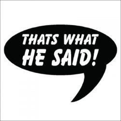 Thats What He Said Vinyl Sticker for your wall, car or truck.
