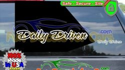 Daily Driven Decal JDM Style B Vinyl Die Cut Stickers