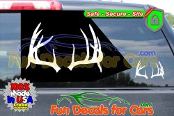 Deer Antlers Decal Hunting Rack Vinyl Die Cut Stickers