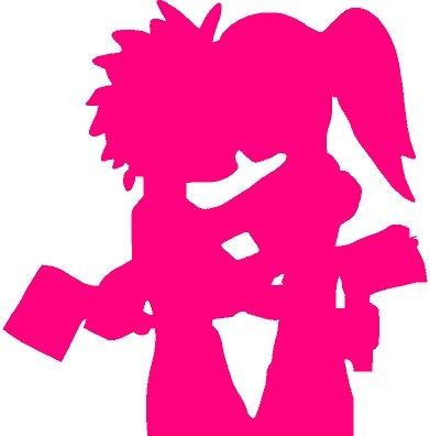 ICP Hatchet Man Girl Sticker Pink
