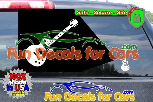 Les Paul Decal Gibson Guitar Music Vinyl Die Cut Stickers