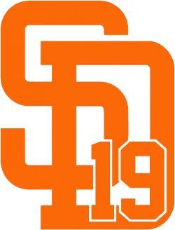 Tony Gwynn Sticker Orange