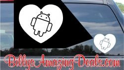 Android Heart Sticker
