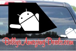 Android Peeking Sticker