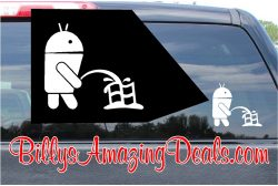 Android Peeing on Windows Sticker