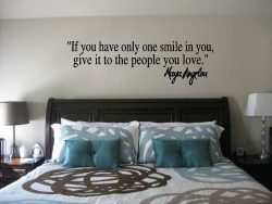 Maya Angelou If You Have Only One Smile Wall Quote Sticker