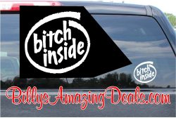 Bitch Inside Custom Vinyl Sticker Decal
