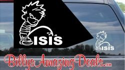 Calvin Pee on Isis Vinyl Sticker Decal