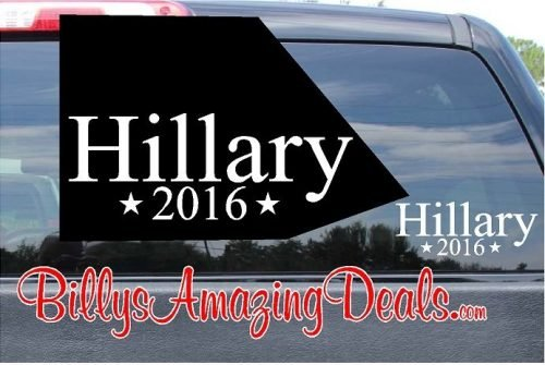 Hillary For President 2016 with Stars Vinyl Sticker Decal