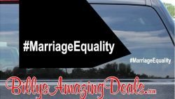 Our Hashtag Marriage Equality LGBT Rights Vinyl Sticker Decal A