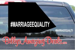 Our Hashtag Marriage Equality LGBT Rights Vinyl Sticker Decal B