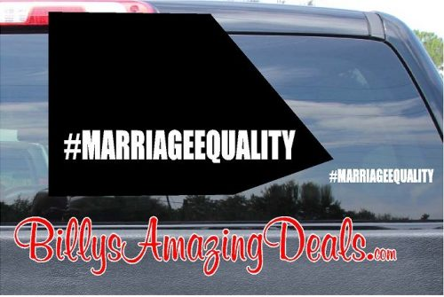 Our Hashtag Marriage Equality LGBT Rights Vinyl Sticker Decal D