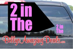 2 In The Pink Sticker Vinyl Decal