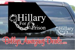 Hillary For Prison Sticker Vinyl Decal