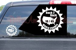 Back 2 Back World Champs Stickers Star B