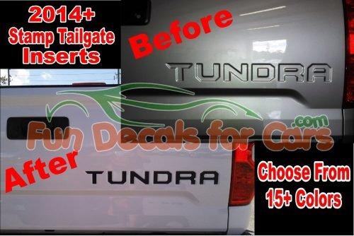 14 15 2016 Toyota Tundra Stamped Tailgate Decals Vinyl Sticker