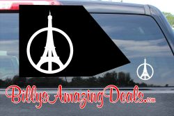Peace For Paris Sticker Eiffel Tower Vinyl Decal
