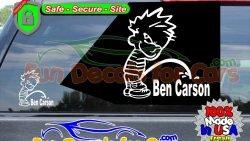 Calvin Peeing On Ben Carson Sticker Vinyl Die Cut Decal