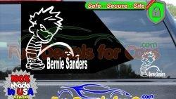 Calvin Peeing On Bernie Sanders Sticker Vinyl Die Cut Decal
