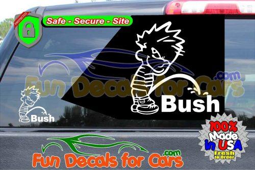 Calvin Peeing On Bush Sticker Vinyl Die Cut Decal