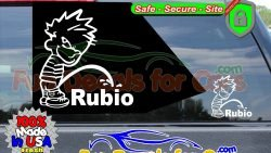 Calvin Peeing On Rubio Sticker Vinyl Die Cut Decal