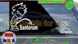 Calvin Peeing On Santorum Sticker Vinyl Die Cut Decal