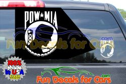Pow Mia Stickers Military Vinyl Die Cut Decal