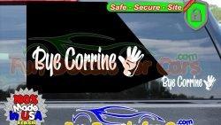 Bye Corrine Decal Waiving Hand Vinyl Sticker Dice Cut b