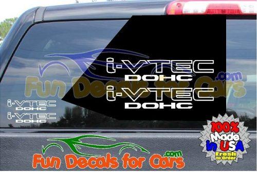 I VTEC DOHC Sticker Vinyl Decal Die Cut