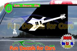 B C Rich Warlock Decal Music Electric Guitar Vinyl Die Cut Stickers
