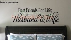 Best Friends For Life Wall Quote Decal Saying Husband Wife Vinyl Die Cut Stickers