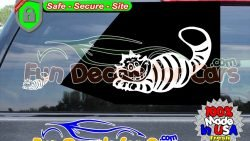 Cheshire Cat Decal Movie Alice In Wonderland Vinyl Die Cut Stickers