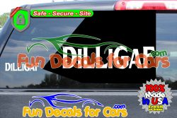 DILLIGAF Decal Funny Style B Vinyl Die Cut Sticker