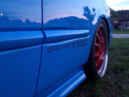 DOHC VTEC Decal Honda Civic Emblem Vinyl Die Cut Sticker