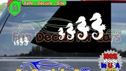Sea Horse family Decal Animal Ocean Vinyl Die Cut Stickers