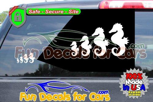 Sea Horse family Decal Animal Ocean Vinyl Die Cut Stickers