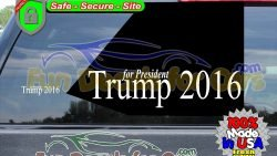 Trump 2016 Decal Political Presidential Vinyl Die Cut Stickers