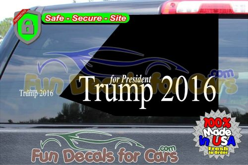 Trump 2016 Decal Political Presidential Vinyl Die Cut Stickers