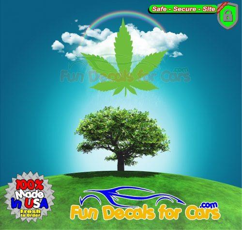Medical Cannabis Leaf Decal Vinyl Die Cut Stickers