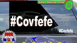 Hashtag Covfefe Trump Twitter Vinyl Decal Die Cut Sticker