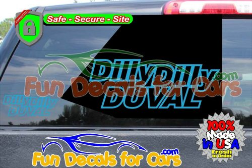Dilly Dilly Duval Vinyl Decal Teal Style A