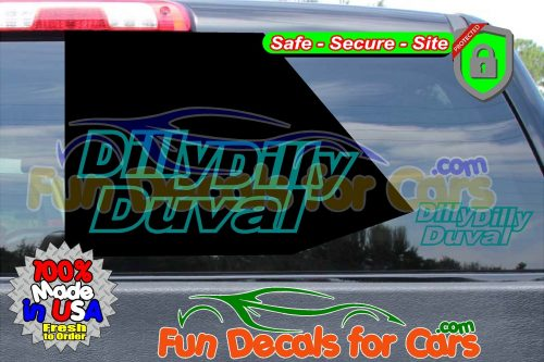 Dilly Dilly Duval Vinyl Decal Teal Style B