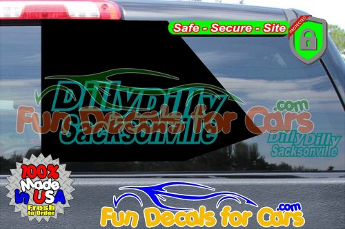 Dilly Dilly Sacksonville Vinyl Decal Teal Style B