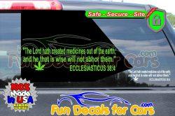 Ecclesiasticus 38 4 Vinyl Decal Medicines Cannabis Earth